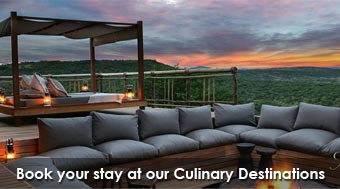Book your stay at our Culinary Destinations